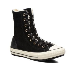 Converse   Black Leather Calf HI XHI Shoes Sz. 8